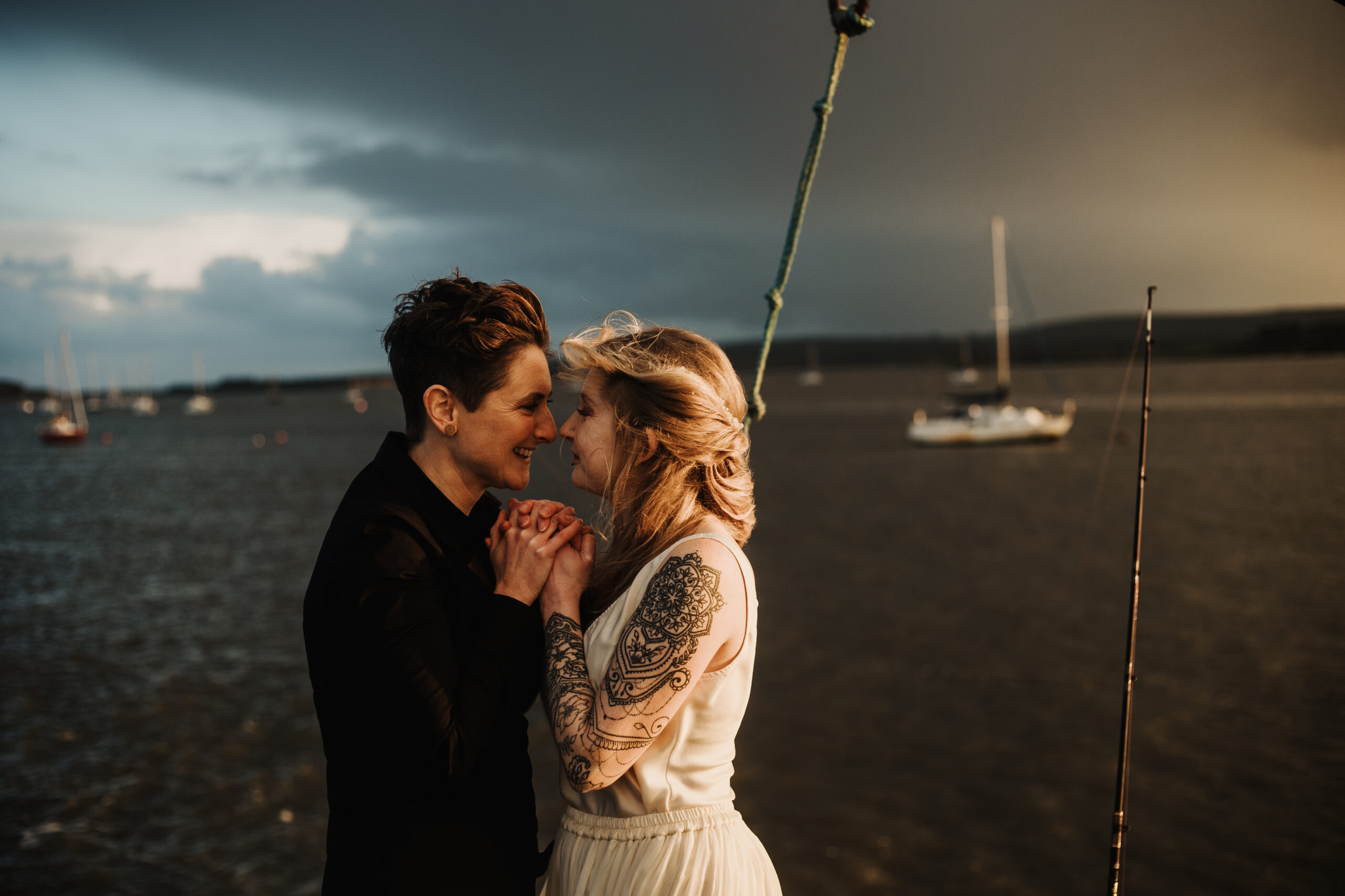 poole wedding beach